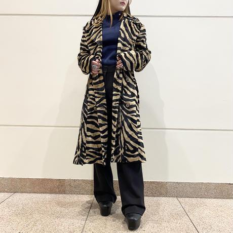 90s fake fur trench coat