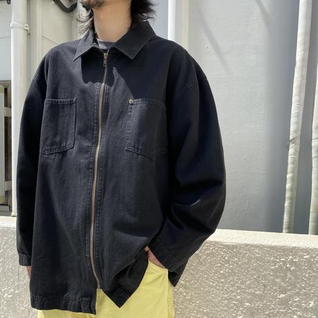 90s~ zip up design jacket
