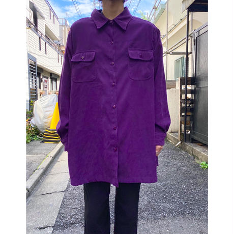 oversized fake suède shirt