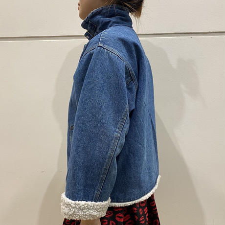 "90s ""LONDON FOG"" B-3 design denim jacket"
