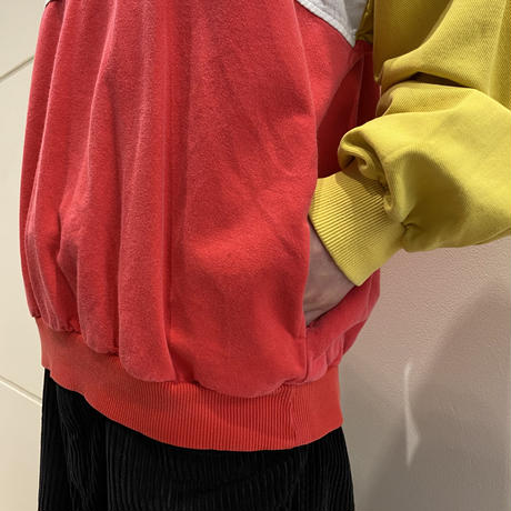 "90s ""Coca Cola"" crazy patterned sweat shirt"
