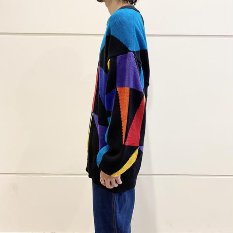 90s all patterned cotton knit sweater