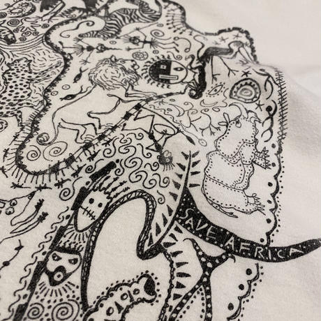 90s~ printed T-shirt