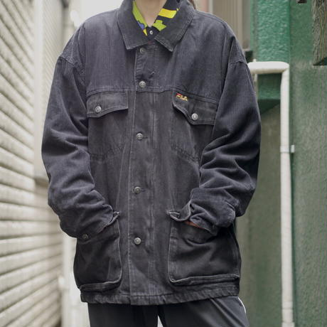 "80s ""FILA"" Oversized denim jacket"