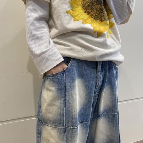 90s~ design denim half pants