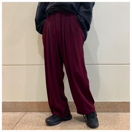 80s rayon  3tuck wide slacks