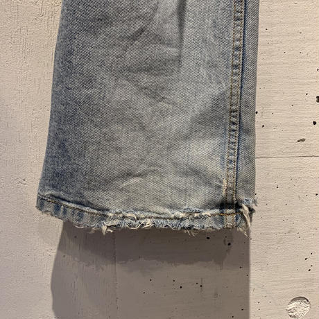 90s damage flare denim pants