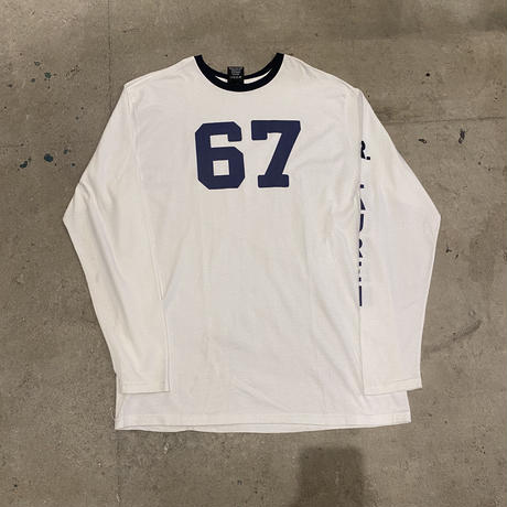90s POLO JEANS numbering l/s T-shirt
