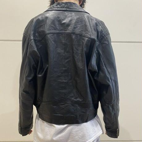 80s leather rider's jacket