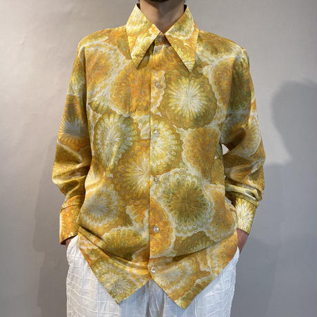 70s all pattern see-through shirt