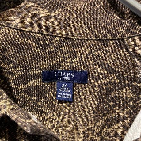"90s~ ""CHAPS"" python patterned tracker jacket"
