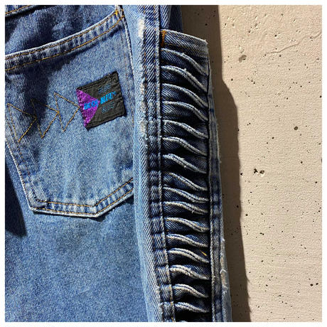 80s denim design pants