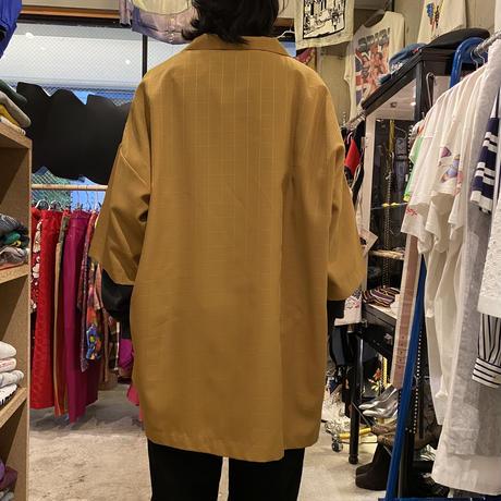 90s~ oversized open collar shirt
