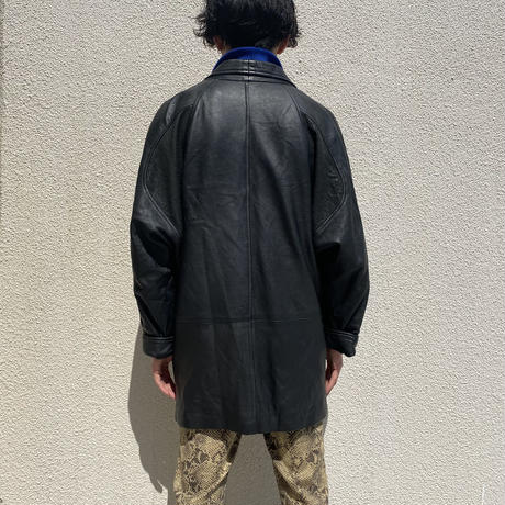 80s~ design leather jacket