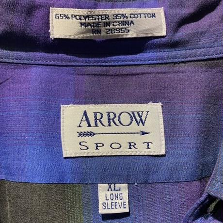 """ARROW SPORT"" L/S checked shirt"