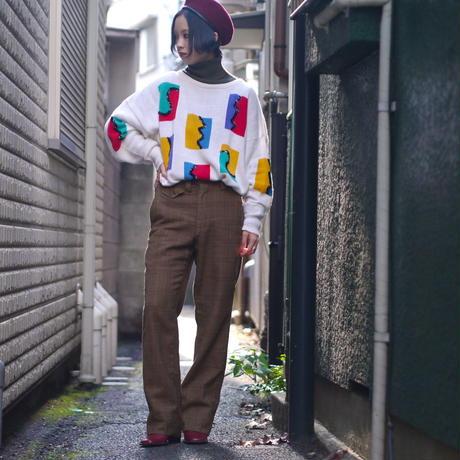 80s design colorful knit
