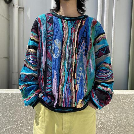 """90s~ """"COOGI"""" cotton knit sewater"""