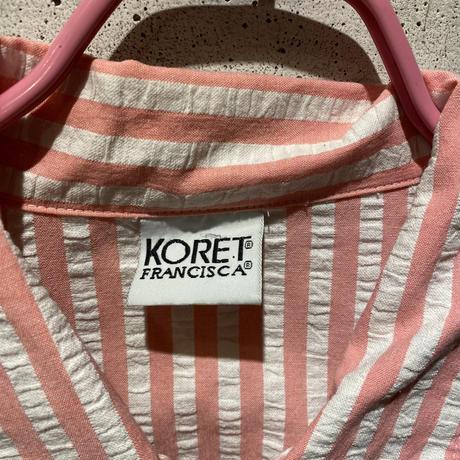 90s striped zip up shirt
