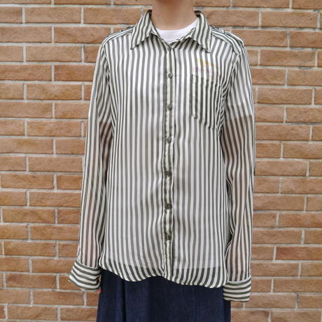 See-through stripe shirt