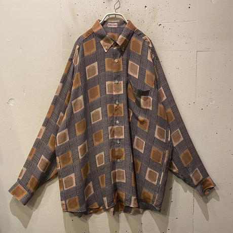 90s L/S all patterned shirt