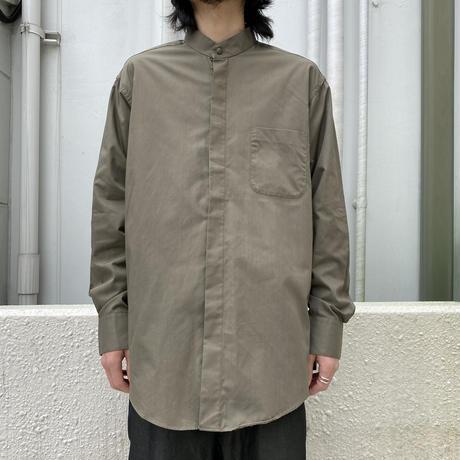 90s L/S band-collar shirt
