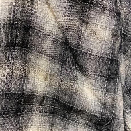 """90s """"nautica"""" shadow check rayon shirt"""