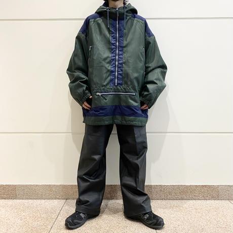 oversized pullover nylon jacket