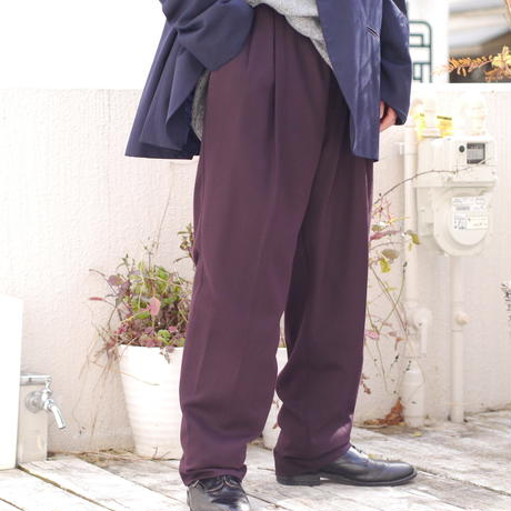 Two tuck wide trousers
