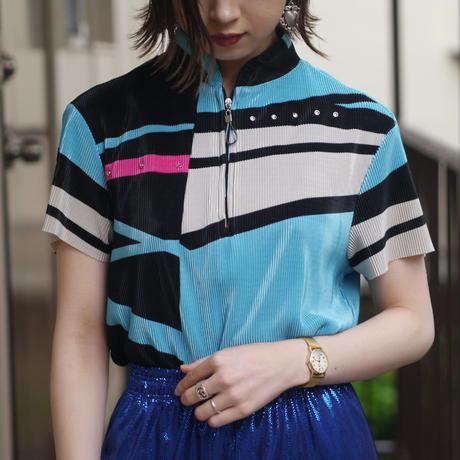 """jamie sadock"" pleats design colorful tops"