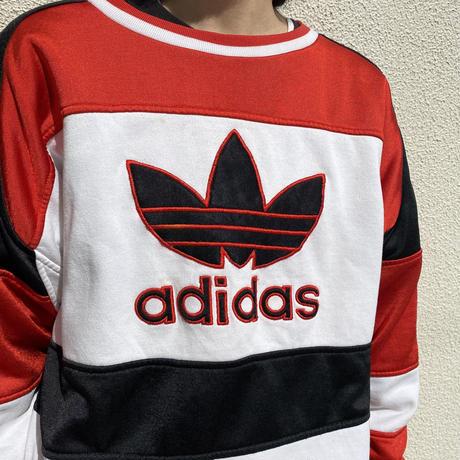 "80s ""adidas"" switching design sweat shirt"