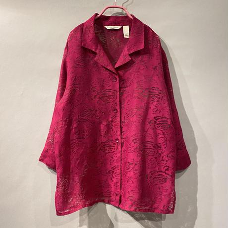 90s see-through L/S design shirt