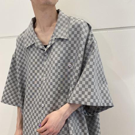 4XL! old oversized open collar shirt