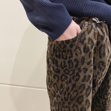90s~ leopard patterned velours pants