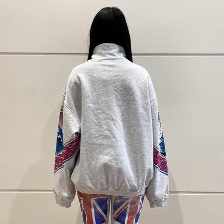 90s high neck design sweat shirt