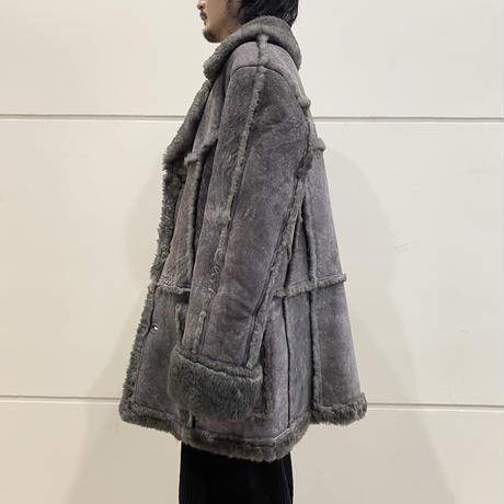 gray color sheepskin coat