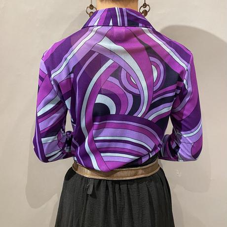 old psychedelic design mesh shirt