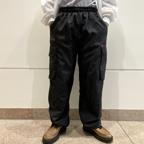 00s reversible sweat × poly easy wide pants
