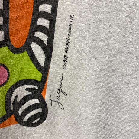 80s art printed T-shirt