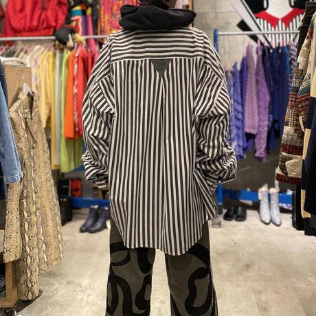 4XL oversized L/S striped shirt