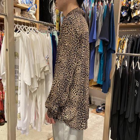 90s~ leopard patterned L/S shirt