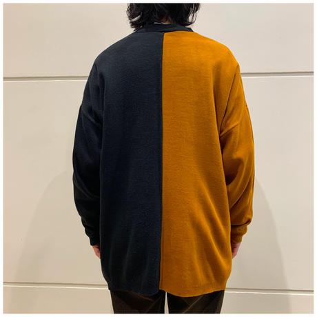 80s acrylic bi color knit sweater