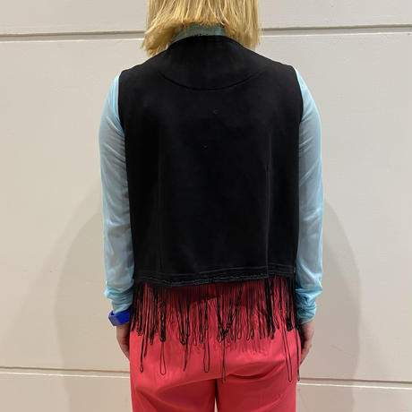 90s embroidery flower design vest
