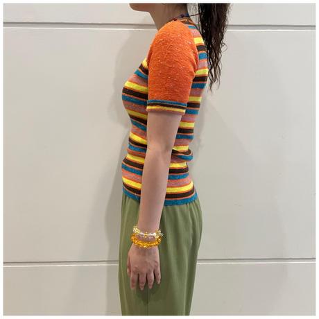 80s border knit tops