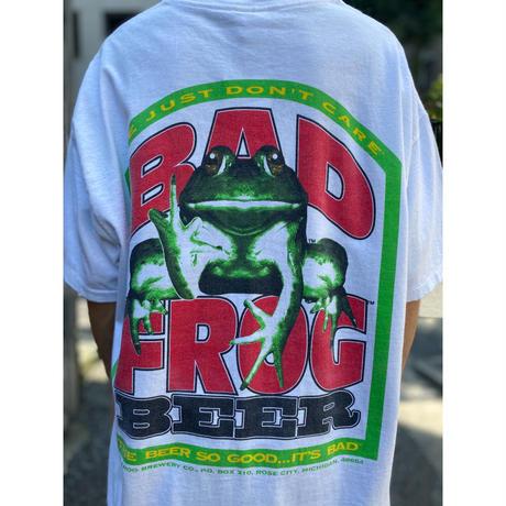 """90s """"BAD FROG BEER"""" printed tee"""