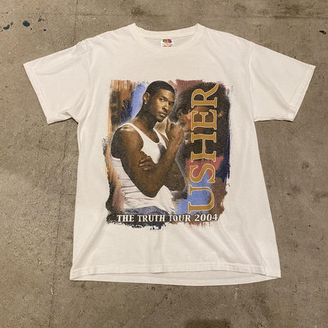 """00s """"USHER THE TRUTH TOUR 2004"""" printed T-shirt"""