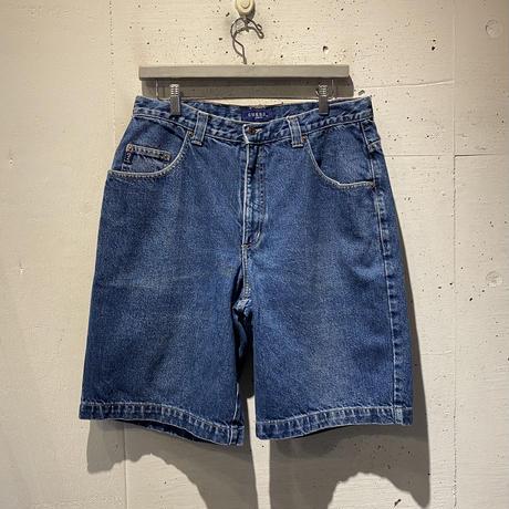 "90s ""GUESS"" half denim pants"