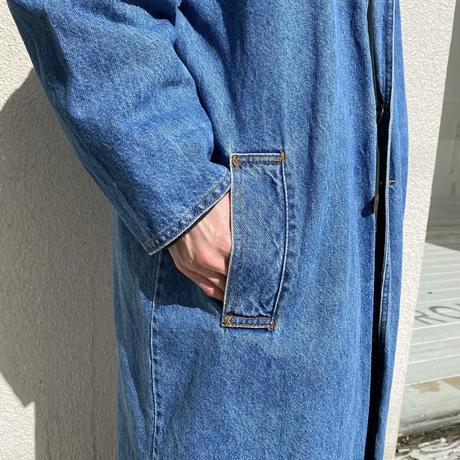 90s~ denim lomg coat