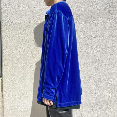 90s~  L/S velour shirt