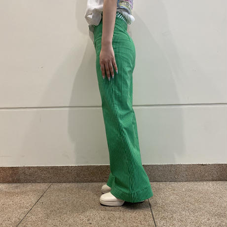 90s~ Euro striped flare wide pants