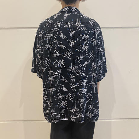 90s~ all patterned rayon shirt